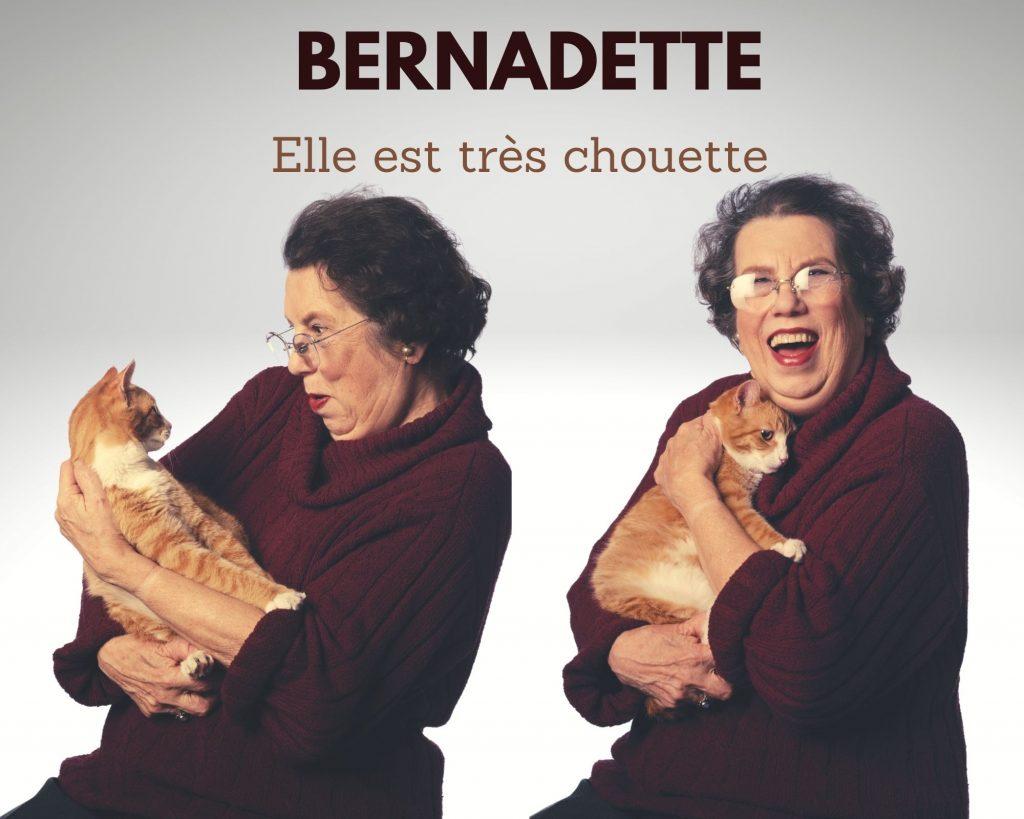 Une mémère à chats très sympathique nommée Bernadette
